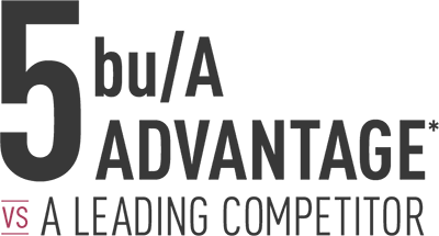 5 bu/A Advantage vs a Leading Competitor